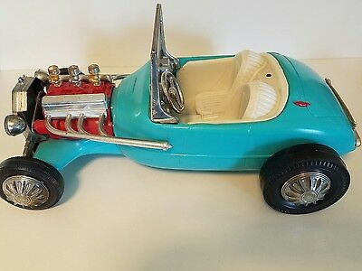 Vintage 1963 Irwin Mattel Barbie Midge & Ken Hot Rod Roadster Car Toy