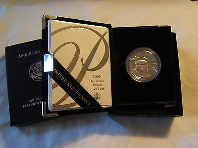 2002 W $100 1 oz proof Platinum Eagle with US Mint packaging