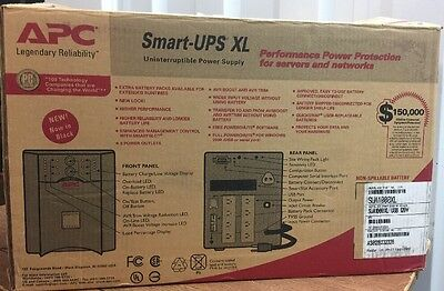 ** NEW ** APC SUA1000XL Smart-UPS XL 1000VA 120V USB and Serial Interface