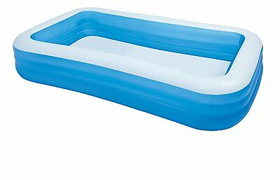 New Kids Blue Rectangular Inflatable Swiming Pool Outdoor Family Fun Swim Center