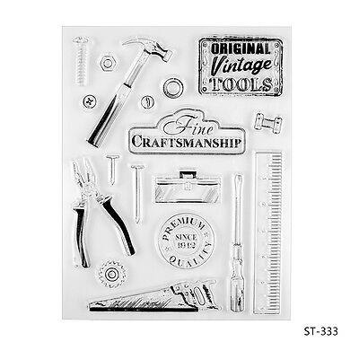 Vintage Tools Clear Stamps for DIY Scrapbooking Photo Album Decorative Supplies