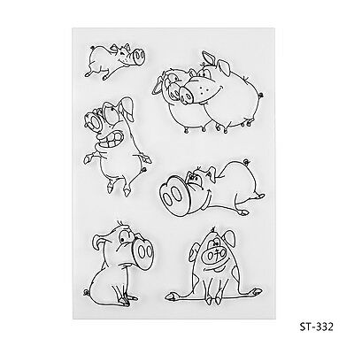 Naughty Pigs Clear Stamps for DIY Scrapbooking Photo Album Decorative Supplies