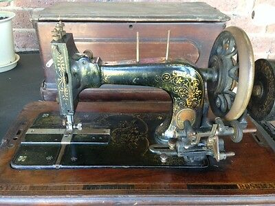 Antique Frister and Rossmann Hand Crank Sewing Machine