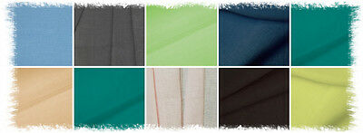 """SAMPLES Wide 100% Linen Fabric Width 102"""" Pure Flax Cloth Bedding"""