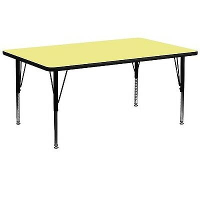 Flash Furniture XU-A3072-REC-YEL-T-P-GGRectangular Activity Table with Yellow...