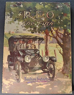 1914 Reo the Fifth 5th Catalog Sales Brochure Nice Original 14