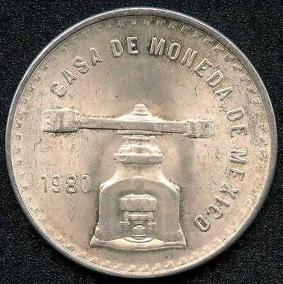 1980 Mexico 1 Ounce Silver Coin (41.mm 33.625 grams .925 Silver)