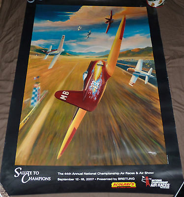 """44th Annual National Championship Air Races & Show Poster 24x36"""" RENO, NEVADA 07"""