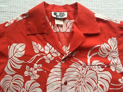 1bf58ec4 VTG. '70S HILO Hattie Men's Orange Red Floral Hawaiian Shirt - Large ...