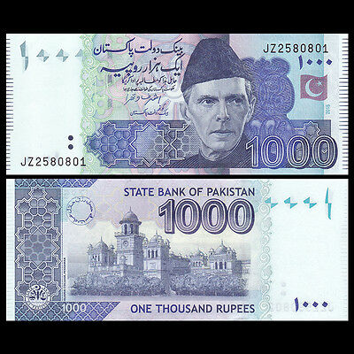 Pakistan 1000 1,000 Rupees, 2015, P-59 New, UNC