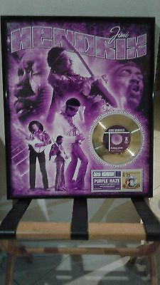 Jimmy Hendrix Limited Edition Gold Record In Picture Frame