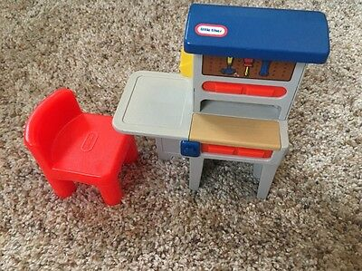 Little Tikes Family Play Dollhouse Workbench Toy with Chair Workshop