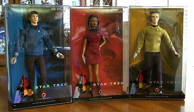 Star Trek Barbie & Ken - Captain Kirk, Lt Uhura & Mr Spock - With Shipper Box
