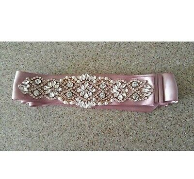 Wedding dress sash belt - Pink
