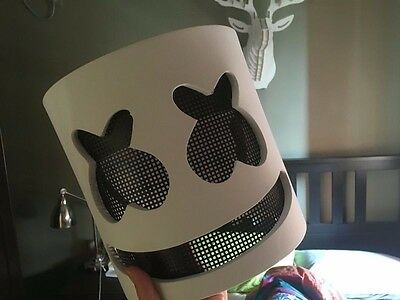 Marshmello Mask Cosplay Costume Accessory Helmet for Halloween Party Props