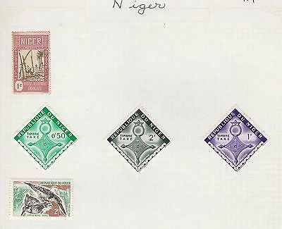 NIGER COLLECTION Tax, Birds etc on Old Book Pages,as per scan #