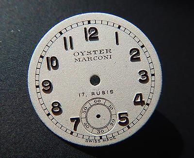 NOS Vintage OYSTER MARCONI By ROLEX Watch DIAL 1930 -1950 SubDial Raised Numbers