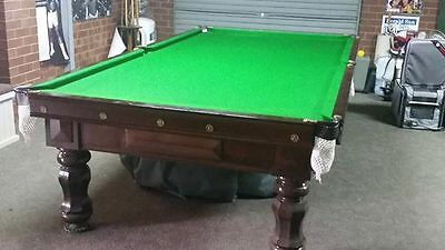 Large slate pool table