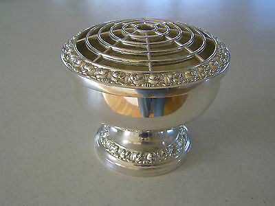 Ianthe Silver Plate Rose Bowl Made In England