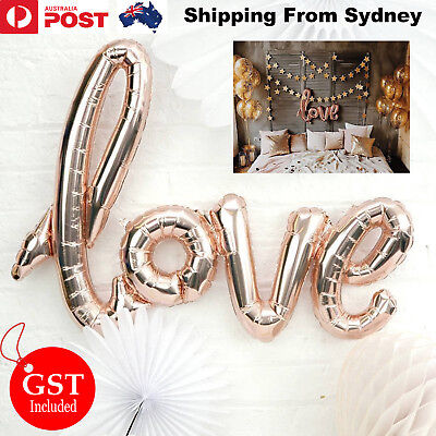 40 Inch Rose Gold Love Foil Balloon Balloons Backdrop Handwriting Wedding Party