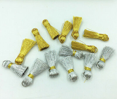 Mini Gold and silver tassel Bookmark tassels Jewelry Accessories Handicrafts DIY