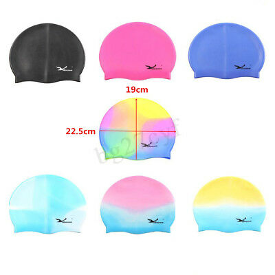 Men Women Adults Kids Silicone Swim Swimming Cap Durable Flexible Waterproof