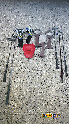 Set Of 10 Piece ( 4 Golf Clubs And Only One Putter And Accessories)