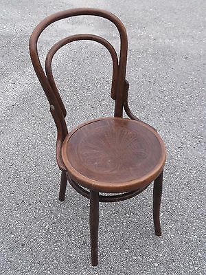 Antique Vintage 1920's Mazowia Bentwood Cafe Chair stool Poland    **FREE SHIP**