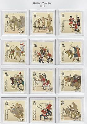 British Indian Ocean Territory set of  '12 Great Battles'  stamps ' U/Mint