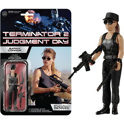 Funko ReAction TERMINATOR 2 SARAH CONNOR Kampfdress 9cm Figur NEU Kenner