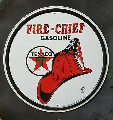 Metal Sign Fire-Chief Texaco New