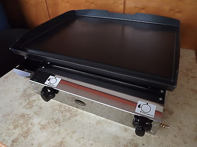CATERING VAN - LPG Gas  Griddle Hot Plate Barbecue 51x40 cm Professional