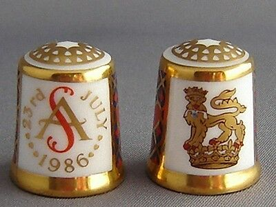 Royal Crown Derby Thimble - Prince Andrew