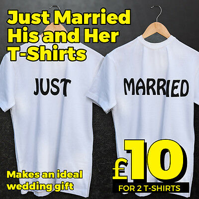 Just Married T Shirts Loose-fit - Ideal wedding gift for the honeymoon