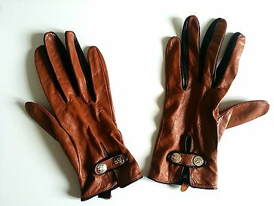 Ted Baker Womens Brown (Tan) Chupa Leather Driving Gloves Size S/M (RRP ‎£60)