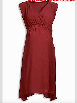 New ex Next Maternity Burnt Orange Belted Summer Wrap Dress RRP £32 Sizes 10-22