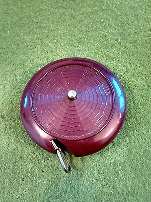 "Vintage 36"" retractable sewing tape measure bakelite case 1940's/50's"