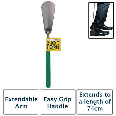 Easy Grip Extendable Metal Shoe Horn Handle Long Remover Shoehorn Handheld Shoes