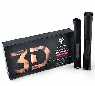 NEW Younique 3D Moodstruck Fiber Fibre Lash Mascara Black Uk Seller