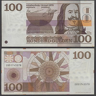 Netherlands 100 Gulden 1970 (VF+) Condition Banknote P-93