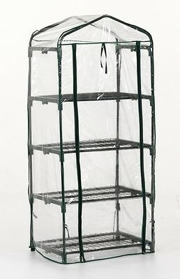 4 Tier Greenhouse Reinforced Replacement Pvc Cover Garden Plants Growhouse New
