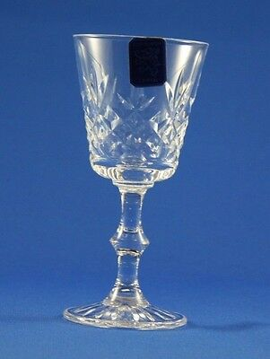EDINBURGH CRYSTAL -  LOMOND -  SMALL WINE / SHERRY GLASS  13.8cm  /  5 3/8""""