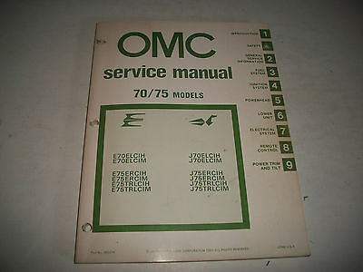 1981 Evinrude & Johnson 70/75 Hp Outboard  Oem Service Shop  Manual Clean
