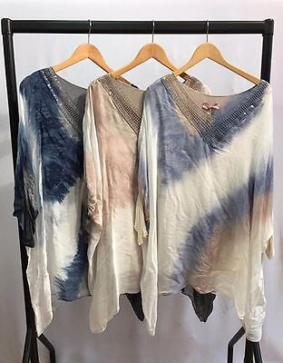 Wholesale Joblot Ladies Women's Tunic Silk Top  Italian  6Pcs Mix Colours 1size