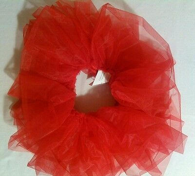 Curtain Call Costumes girls S tutu red stiff tricot ballet dance wear small
