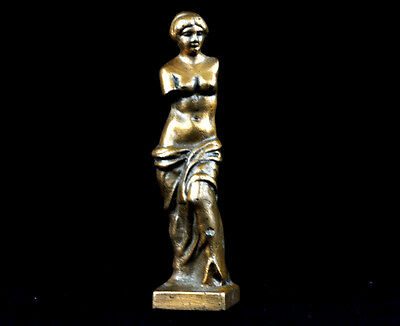 Antique Bronze Nude Woman Greek Roman Figure Statue Venus VTG