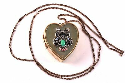 Vintage Miniature Music Box Pendant Necklace and Photo Locket Personalized Gift