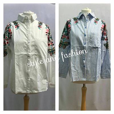 Wholesale Job Lot Ladies shirt Top long sleeves  Flower Latest fashion 4 PCS MIX