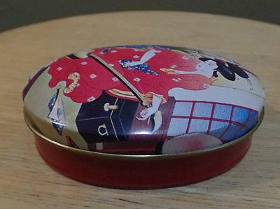 Vintage Oval TIN Fragrance SOAP Bar IMAGES Of The ORIENT Avon~NEW