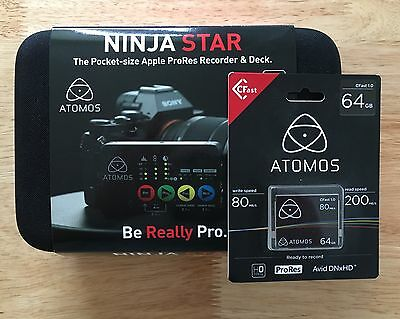 Atomos Ninja Star external video recorder & FREE 64GB CFast card! *NEW*